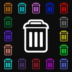 trash icon sign Lots of colorful symbols for your vector image