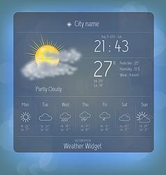 Weather widget template 3 vector