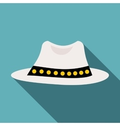 White hat icon flat style vector image