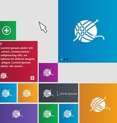 Yarn ball icon sign buttons modern interface vector