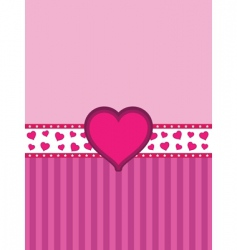 Heart banner background vector