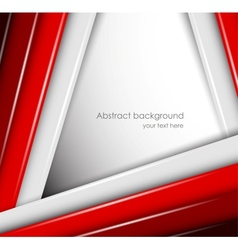 Abstract background with red and gray lines vector image