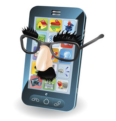 Mobile phone theft concept vector