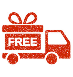 gift delivery grunge icon vector image