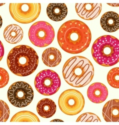 Donut seamless pattern vector
