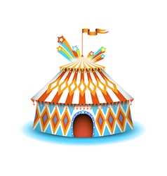 Colorful circus vector image