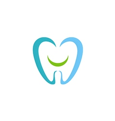dentist teeth smile logo vector image