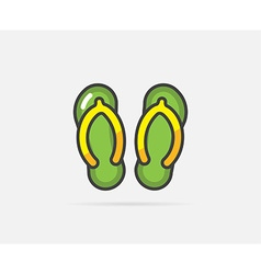 Flip flops can be used as logo or icon vector