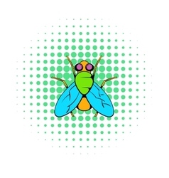 Insect fly icon comics style vector