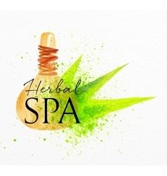 Beauty natural spa herbal vector