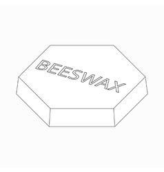 Beeswax icon isometric 3d style vector