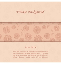 Floral vintage background vector