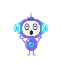 Shocked little robot vector