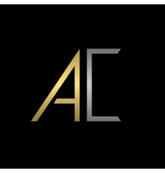 Ac letters logo vector