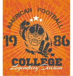 American Football - for t-shirt vector image vector image