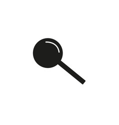 black magnifier icon vector image