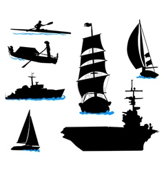 Boats 3 vector image
