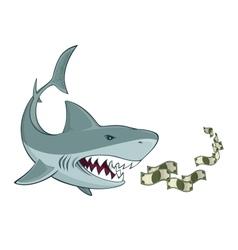 Business shark vector