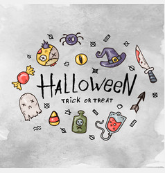 cartoon halloween card vector image