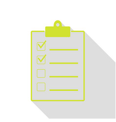 Checklist sign pear icon with flat vector