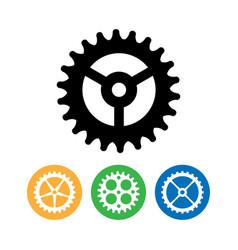 clock gears flat clock gears clock vector image