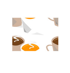 coffee cups seamless vector image vector image
