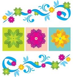 Color Floral ornament vector image