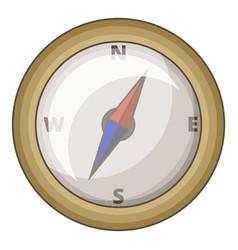 Compass icon cartoon style vector