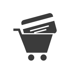 credit card investment icon vector image
