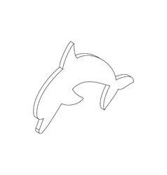 Dolphin icon isometric 3d style vector