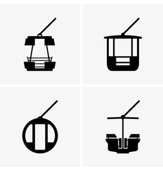 Ferris wheel cabins vector