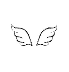figure wings element style element design vector image vector image