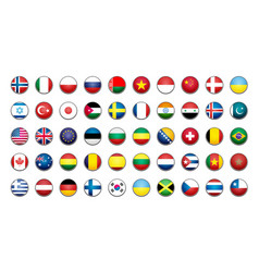 Flags icons simple flags of the countries vector