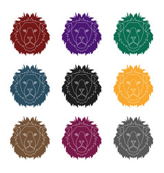 Lion icon in black style isolated on white vector