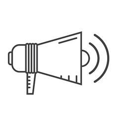 Megaphone Speaker Outline Icon vector image vector image
