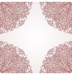 Mehndi henna design background vector