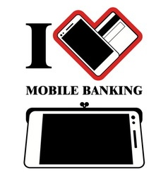Mobile banking logo design vector