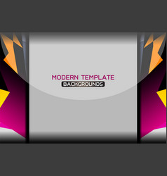modern template background vector image