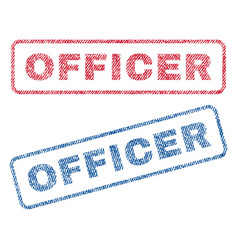 Officer textile stamps vector