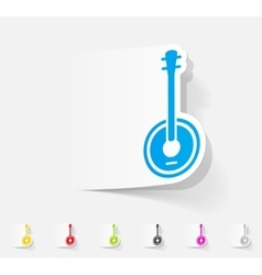 Realistic design element banjo vector