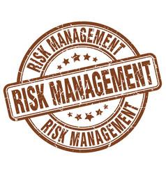 Risk management brown grunge stamp vector