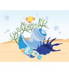 Shell underwater vector