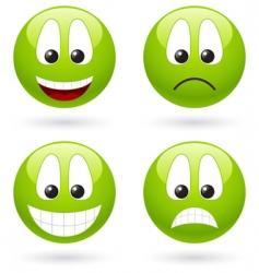 smiley symbols vector image vector image