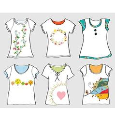 T-shirts templates set vector