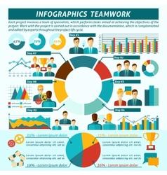 Teamwork infographics set vector