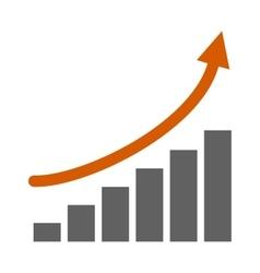 Top graph vector image vector image