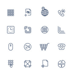 user different interface icons vector image vector image