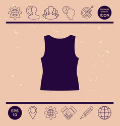women t-shirts the silhouette menu item in the vector image vector image