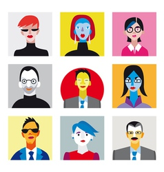 Avatar businessmen businesswomen set vector image