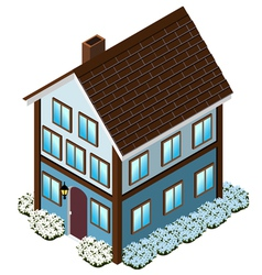 Isometric Tudor Style house vector image